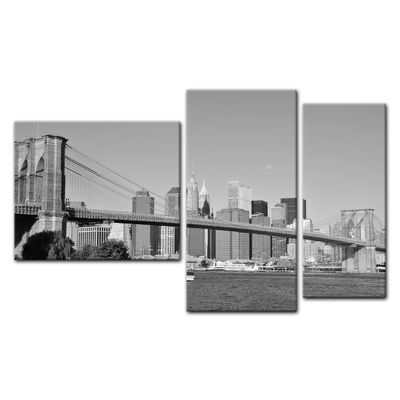 SALE einwandbild - New York Bridge - USA - 130x80 cm 3tlg – Bild 2