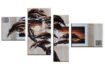 SALE Baum M5 - Leinwandbild 4 teilig 120x70cm Handgemalt – Bild 2