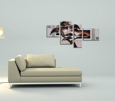 SALE Baum M5 - Leinwandbild 4 teilig 120x70cm Handgemalt – Bild 4