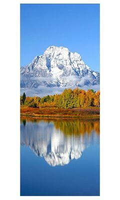 Türaufkleber - Berg Herbst – Bild 3