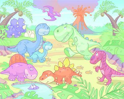 SALE Wandtapete Walltastic: Baby Dino World - Dinosaurier Kleinkind Fototapete – Bild 2