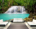 Fototapete Dschungel Wasserfall in Thailand, Provinz Kanchanaburi  001