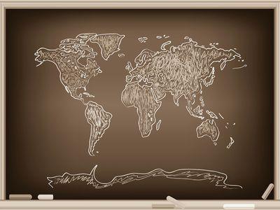 Fototapete Weltkarte Grafik Tafel  – Bild 4