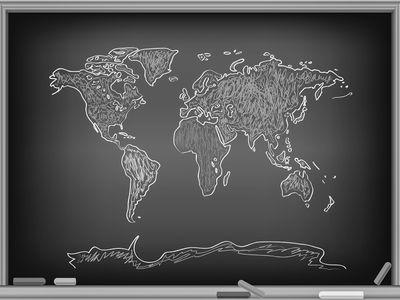 Fototapete Weltkarte Grafik Tafel  – Bild 6