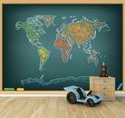 Fototapete Weltkarte Grafik Tafel  001