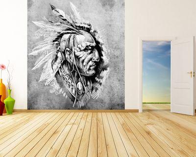 Fototapete Indianer II - Tattoo Art  – Bild 5