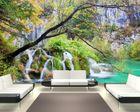 Fototapete Wasserfall im Lakes National Park - Kroatien  001