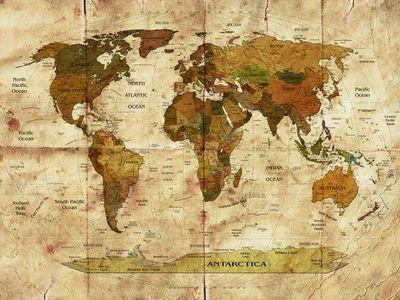 Fototapete Weltkarte retro II  – Bild 2