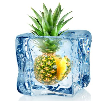 Fototapete Eiswürfel mit Ananas  – Bild 2