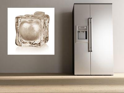 Fototapete Eiswürfel mit Apfel  – Bild 3
