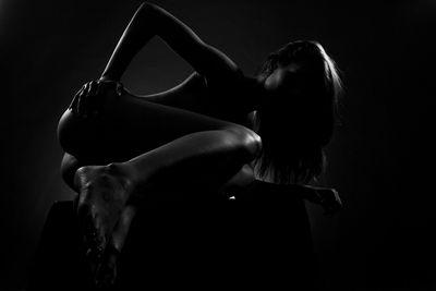 Fototapete Frau Erotik - schwarz weiss  – Bild 2