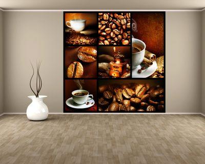 Fototapete Kaffee Collage III