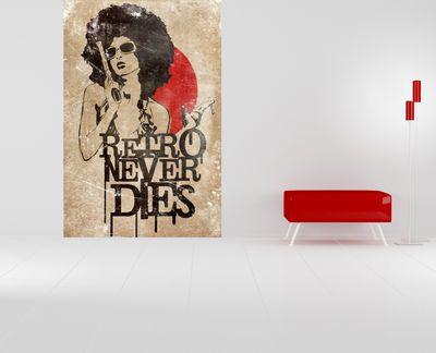 Fototapete Retro Never Dies  – Bild 1