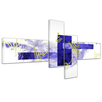 Abstrakte Kunst Abstrakt V - 140x65cm 4 teilig  – Bild 5
