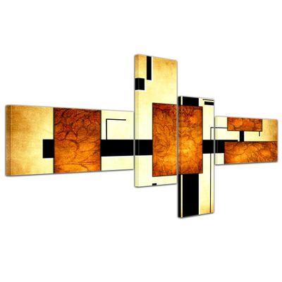 Abstrakte Kunst Abstrakt IV - 140x65cm 4 teilig  – Bild 5