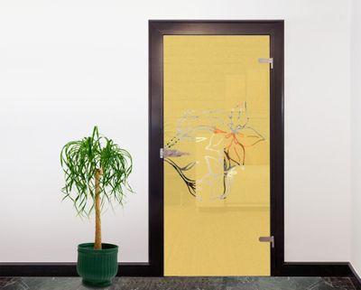 Glasdekor Tattoo Türfolie - Blüten I - 90 x 200 cm – Bild 5