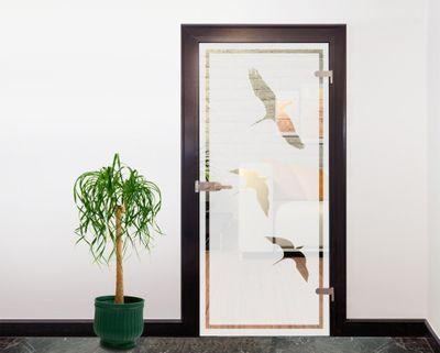 Glasdekor Tattoo Türfolie - Vögel I - 90 x 200 cm – Bild 4