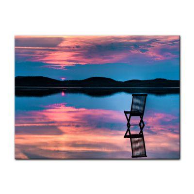 Leinwandbild Sonnenuntergang über dem See  – Bild 2