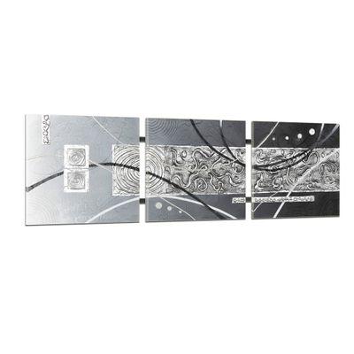 Abstrakte Kunst handgemaltes Wandbild 104x33cm - 3D Struktur - TR01 – Bild 1