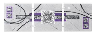 Abstrakte Kunst handgemaltes Wandbild 104x33cm - 3D Struktur - 4005 – Bild 2
