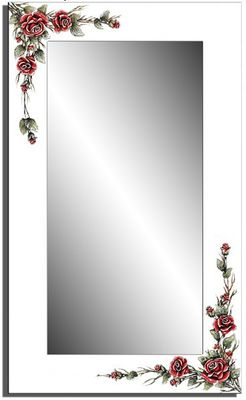Wandspiegel weiß - 3D Rose  ca. 110x70 cm – Bild 3