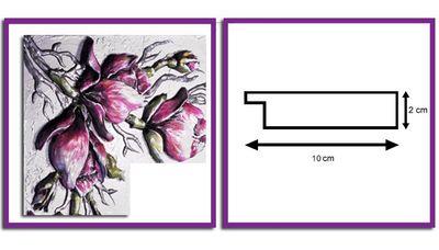 Wandspiegel weiß - 3D Orchidee ca. 110x70 cm – Bild 4