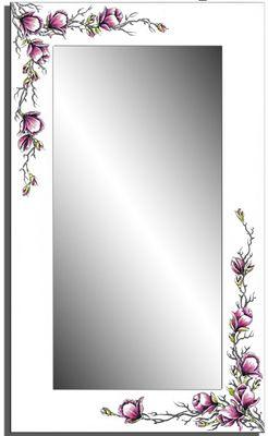 Wandspiegel weiß - 3D Orchidee ca. 110x70 cm – Bild 1