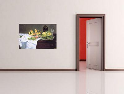 Fototapete Édouard Manet - Alte Meister - Stilleben mit Melone und Pfirsichen