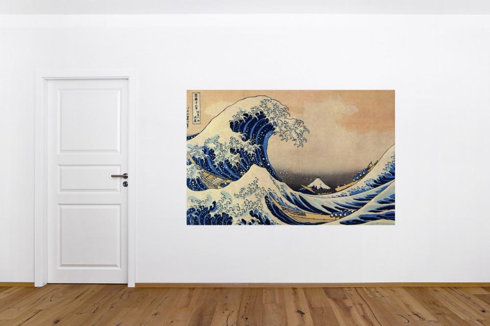 Fototapete Katsushika Hokusai Alte Meister Die Große Welle Vor