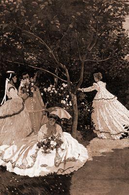 Fototapete Claude Monet  - Alte Meister - Frauen im Garten – Bild 4