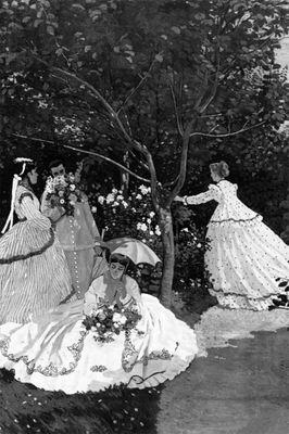 Fototapete Claude Monet  - Alte Meister - Frauen im Garten – Bild 6