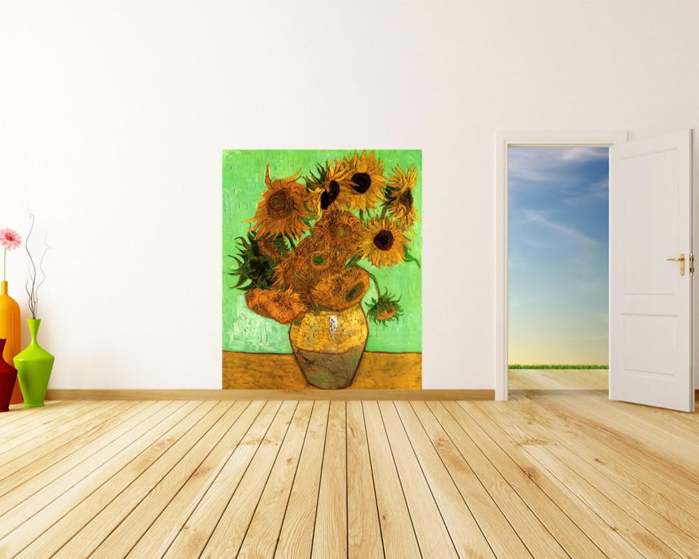 Fototapete Vincent Van Gogh Alte Meister Zwölf Sonnenblumen