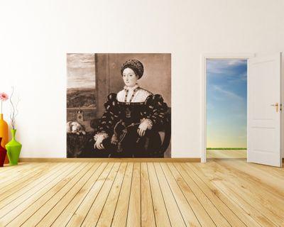 Fototapete Tizian - Alte Meister - Porträt der Eleonora Gonzaga della Rovere – Bild 3