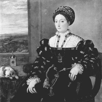 Fototapete Tizian - Alte Meister - Porträt der Eleonora Gonzaga della Rovere – Bild 6