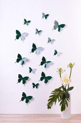 Schmetterlinge in 3D Style - Glänzend – Bild 1