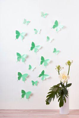 Schmetterlinge in 3D Style - Glänzend – Bild 2
