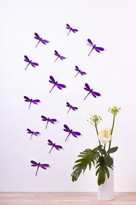 Libellen in 3D Style - Glitzer – Bild 9