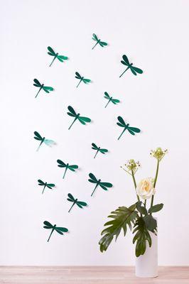 Libellen in 3D Style - Glitzer – Bild 10