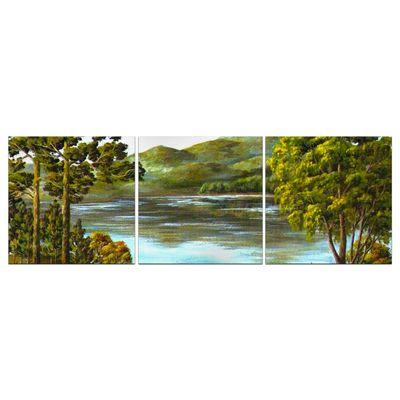 Leinwandbild - Reproduktion - Herbst Bergsee – Bild 7