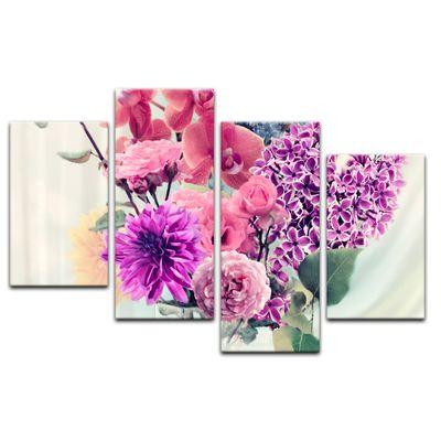 Leinwandbild - Blumen in einer Vase – Bild 6