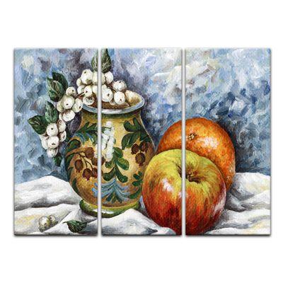 Leinwandbild - Kreuzdorn und Äpfel – Bild 3