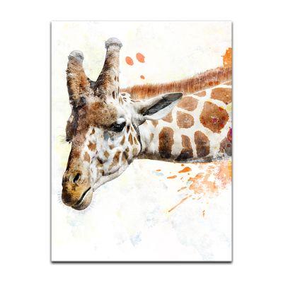 Leinwandbild Reproduktion Aquarell - Giraffe III – Bild 2
