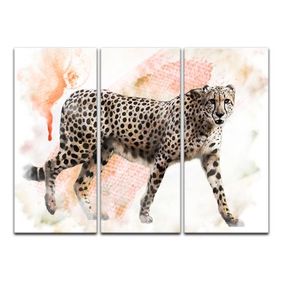 Leinwandbild - Aquarell - Leopard – Bild 11