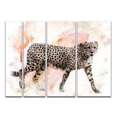 Leinwandbild - Aquarell - Leopard – Bild 12