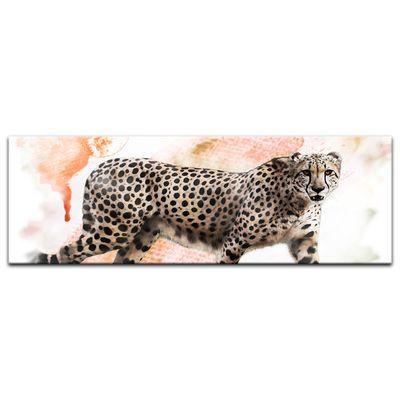 Leinwandbild - Aquarell - Leopard – Bild 9