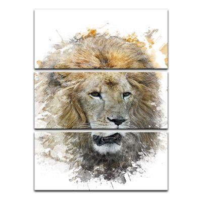 Leinwandbild - Aquarell - Löwe – Bild 4