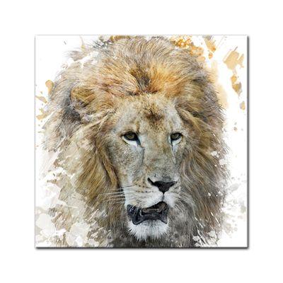 Leinwandbild - Aquarell - Löwe – Bild 2