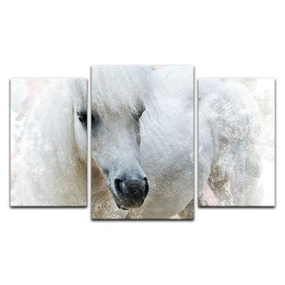 Leinwandbild - Aquarell - Pferd – Bild 4