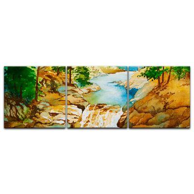 Leinwandbild - Reproduktion Aquarell - Wasserfall – Bild 7