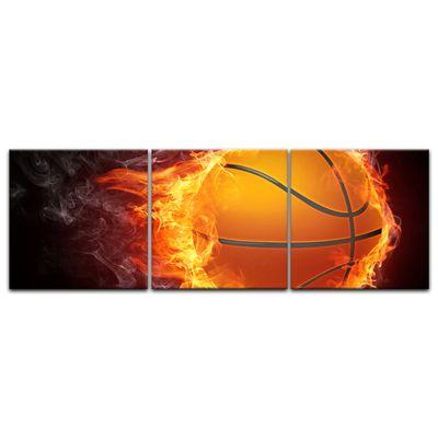 Leinwandbild - Basketball Feuer – Bild 7